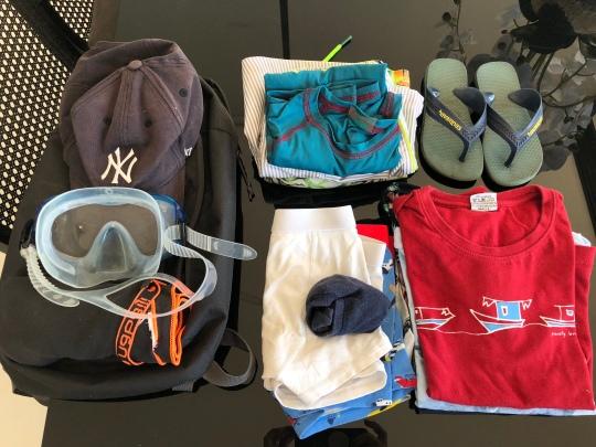 James packing