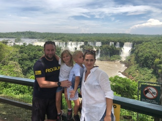 Family photo op with the falls