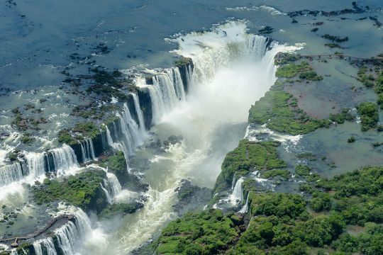 Areal photo of the falls