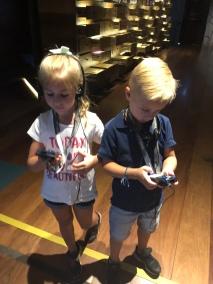 Olivia and James navigating the audioset