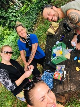 Making balls with Ingeborg, Marcia and Sergio