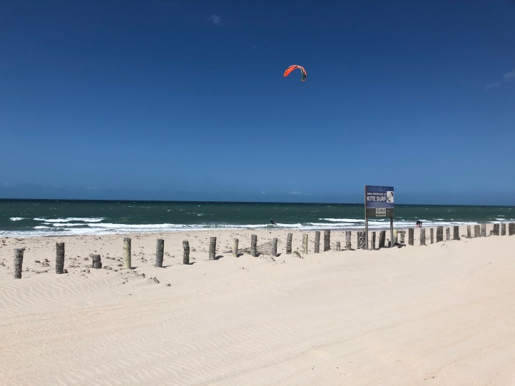 Kite surfers only beach