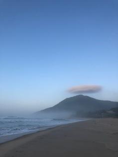 Haloed mountain